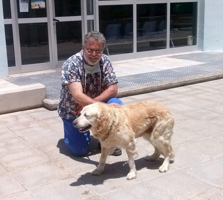 Ike y perro puerta cuadrada